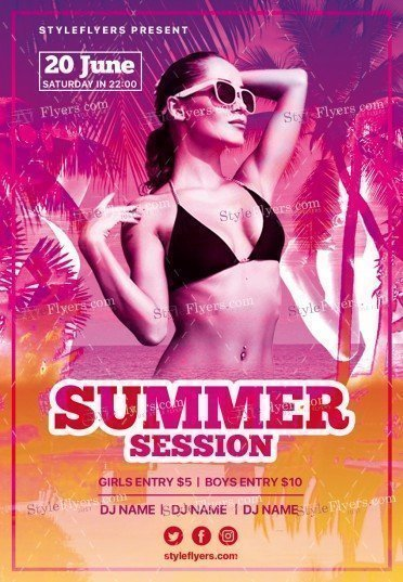Summer-Session PSD Flyer Template