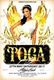 Toga PSD Flyer Template