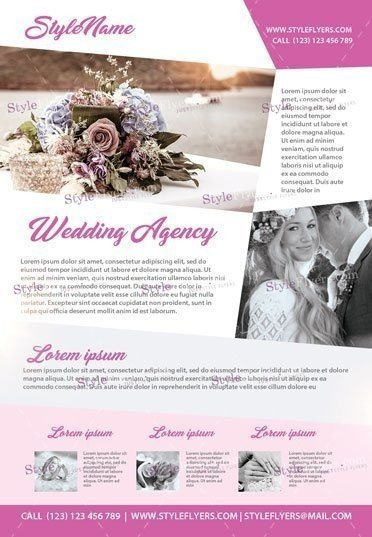 Wedding Agency Psd Flyer Template   Styleflyers