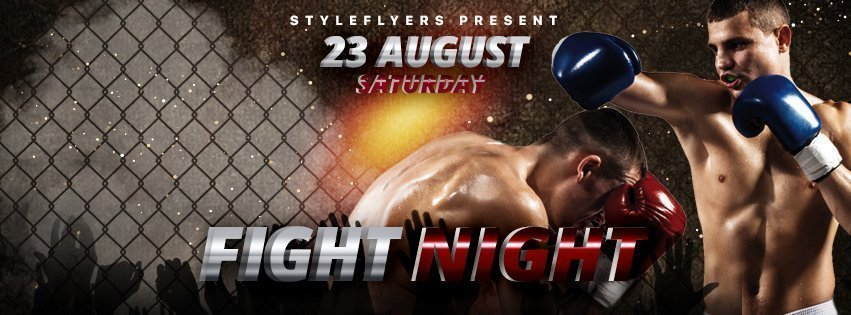 facebook_prev_fight night_psd_flyer