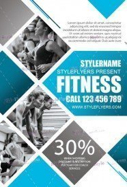 Fitness FREE PSD Flyer Template  Free Fitness Flyer Templates