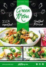 green-menu_psd_flyer