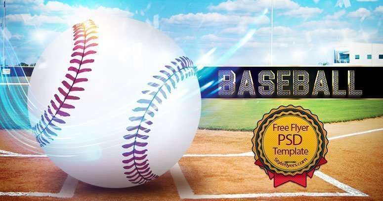 Baseball Free Psd Flyer Template Free Download   Styleflyers
