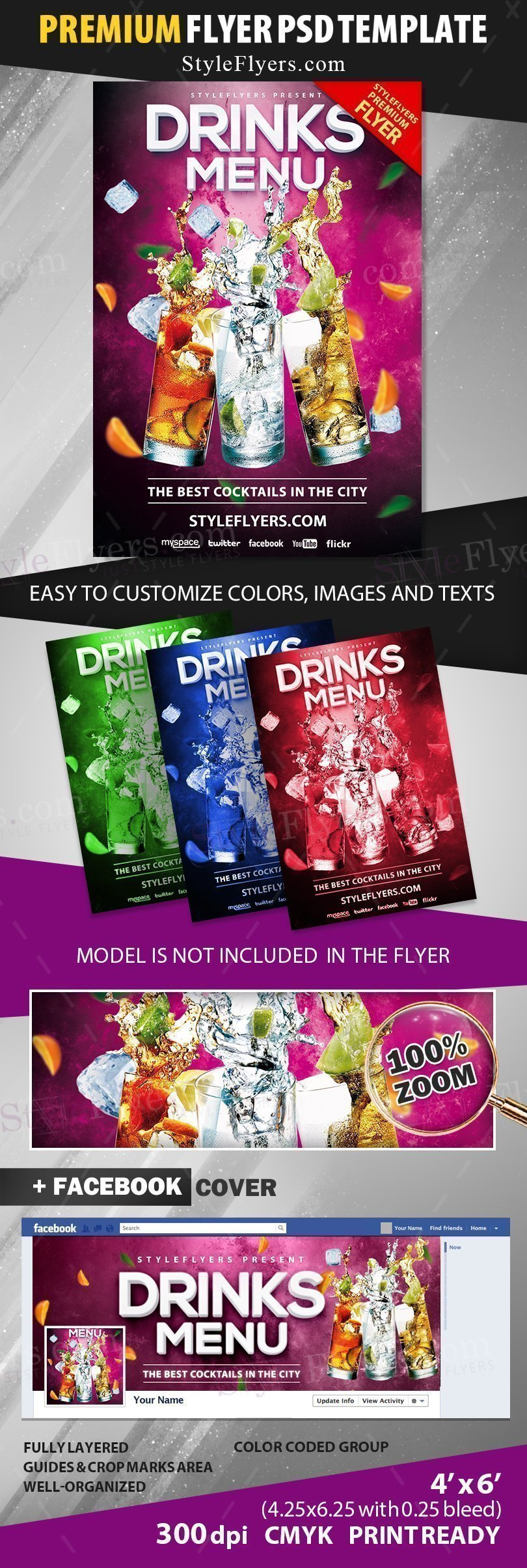 preview_Drinks Menu_psd_flyer