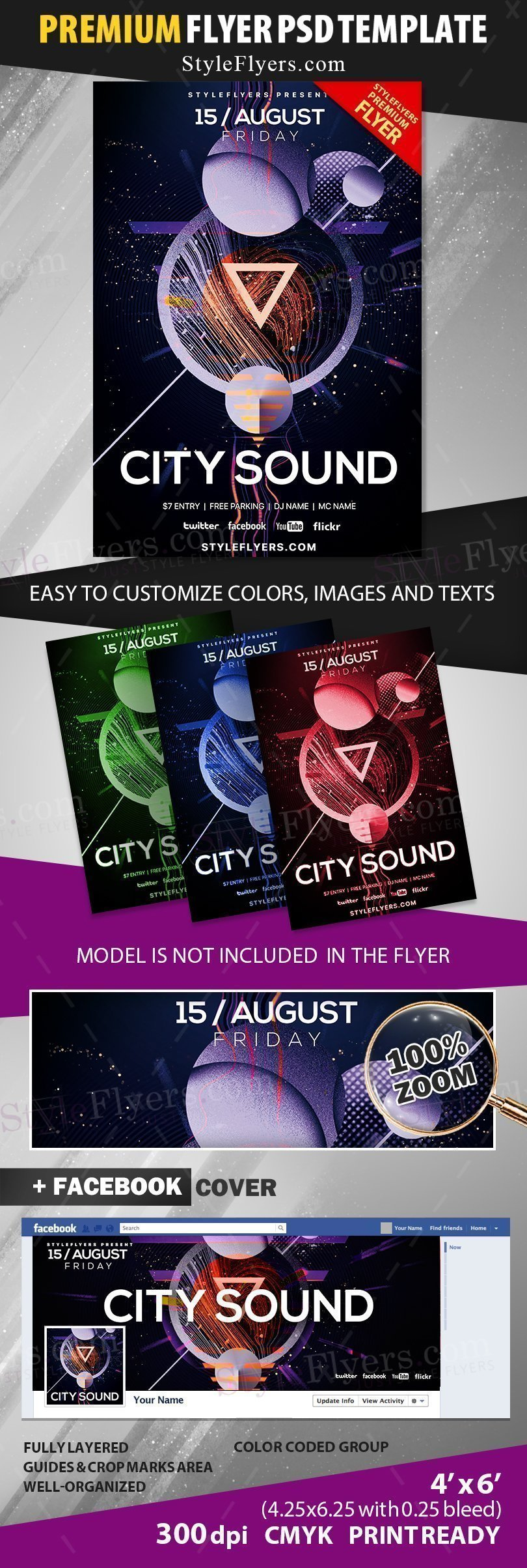 preview_city sound_psd_flyer