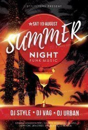 summer_night_free_PSD_flyer