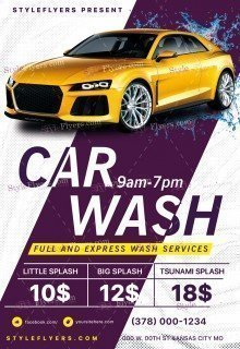Сar Wash PSD Flyer Template