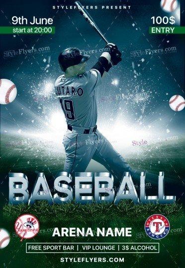 Baseball PSD Flyer