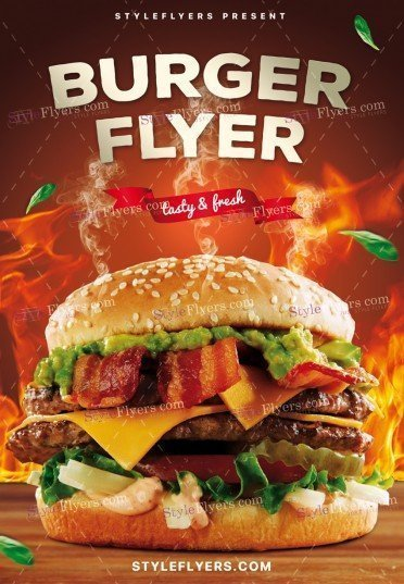Burger PSD Flyer