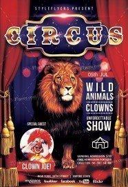 Circus Premium PSD Flyer Template