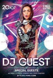 DJ Guest PSD Flyer