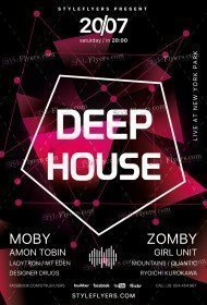 Deep House PSD Flyer Template