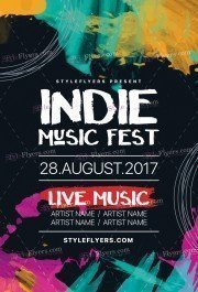 Indie Music Fest PSD Flyer