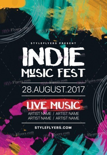 Indie Music Fest Psd Flyer   Styleflyers