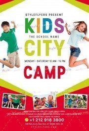 Kids City Camp PSD Flyer Template