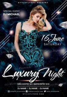 Luxury Night PSD Flyer Template