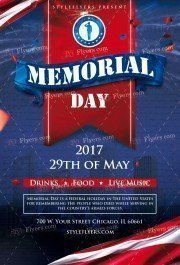 Memorial Day PSD Flyer