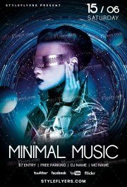 Minimal Music PSD Flyer Template