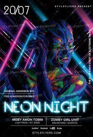 Neon Night PSD Flyer Template