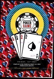 Poker PSD Flyer Template