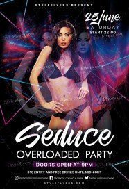 Seduce Overloaded Party PSD Flyer Template
