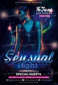 Sensual Night PSD Flyer Template