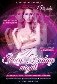 Sexy Friday Night PSD Flyer