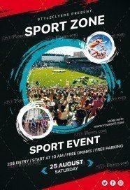 Sport Zone PSD Flyer