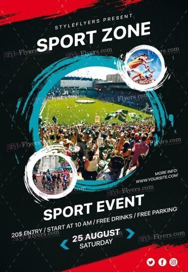Sport Zone PSD Flyer