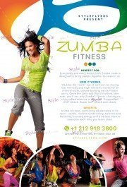 Zumba Fitness PSD Flyer Template