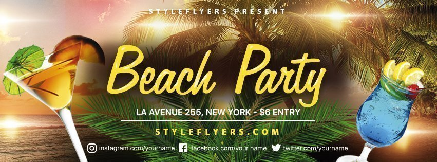 facebook_prev_beach party_psd_flyer