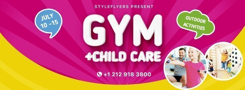 facebook_prev_gym+ child care_psd_flyer