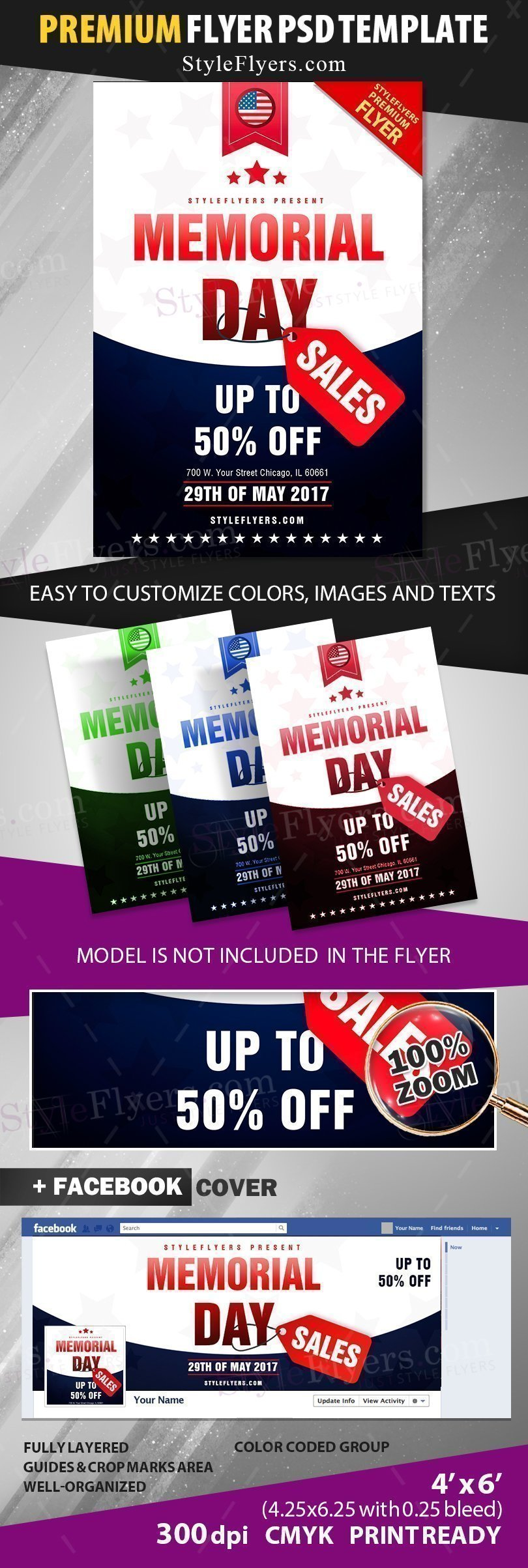 preview_Memorial Day Sales_psd_flyer