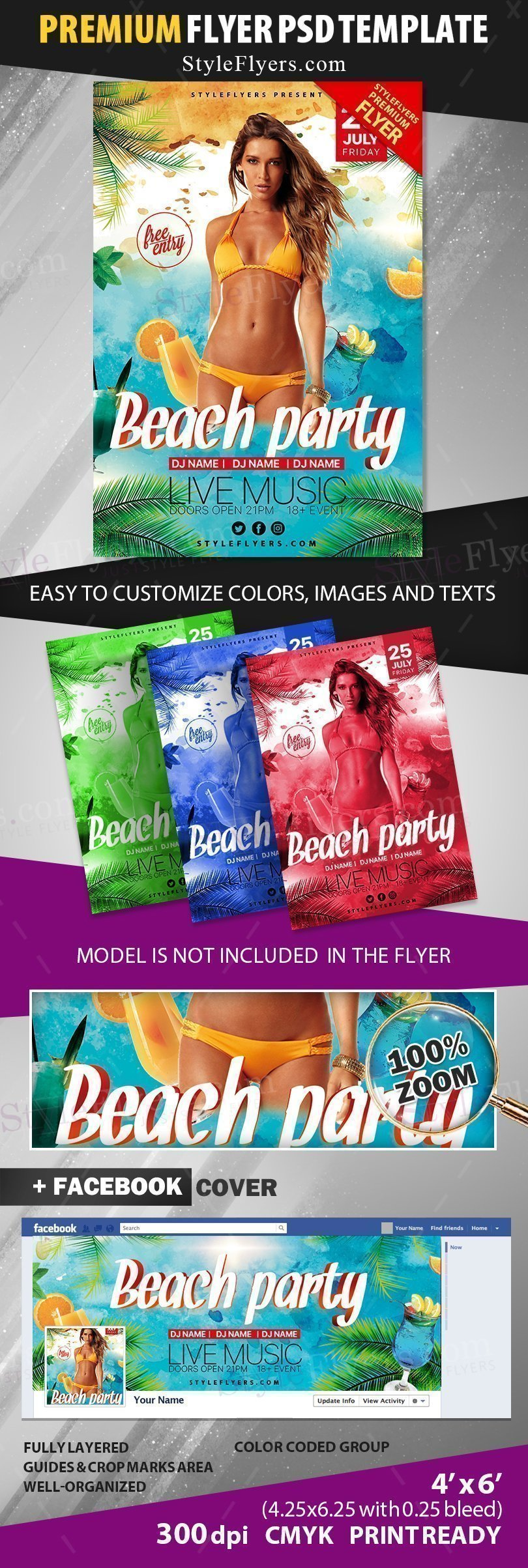 preview_beach party_psd_flyer