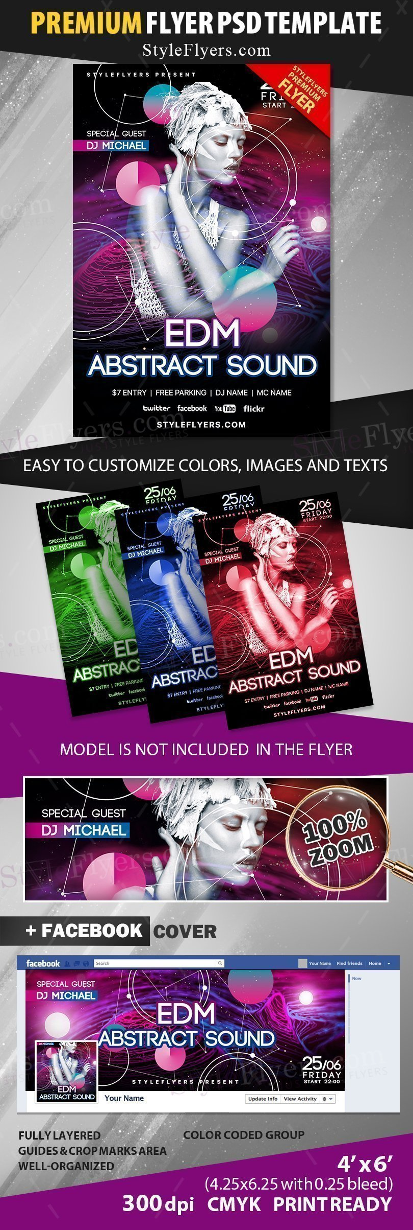 preview_edm abstract sound_psd_flyer