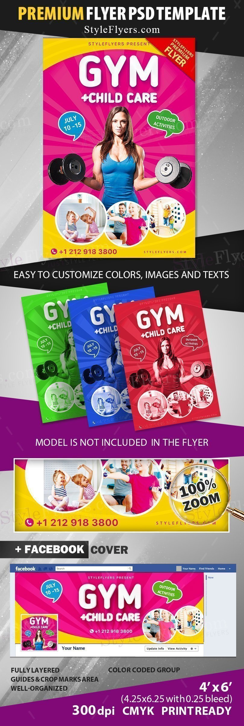 preview_gym+ child care_psd_flyer