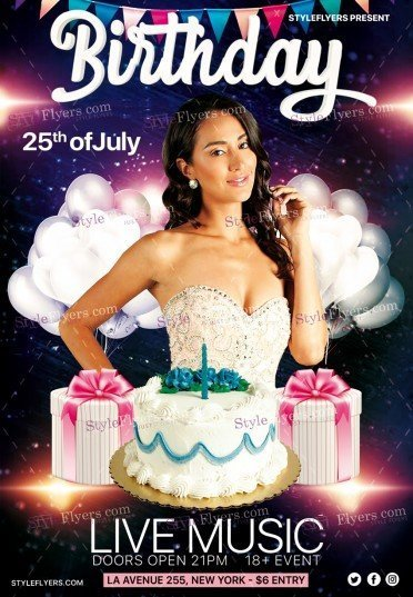 birthday party psd flyer template 19746 styleflyers