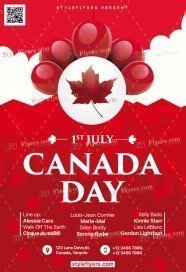 Canada Day PSD Flyer Template