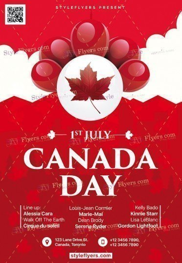 canada day psd flyer template 19507 styleflyers. Black Bedroom Furniture Sets. Home Design Ideas