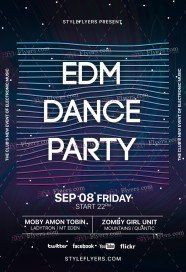 EDM Dance Party PSD Flyer Template