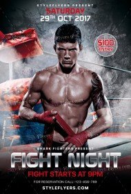Fight Night PSD Flyer Template
