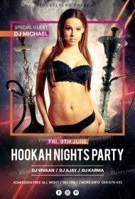 Hookah Nights Party PSD Flyer Template