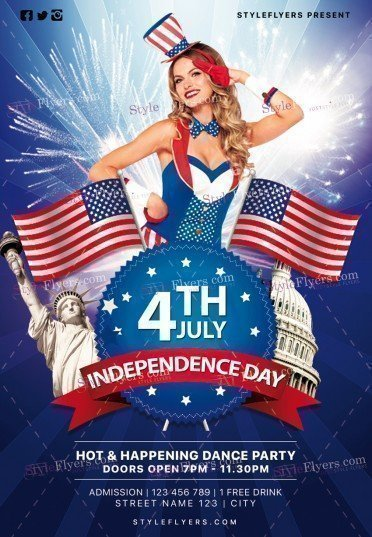 Independence Day Psd Flyer Template #19704 - Styleflyers