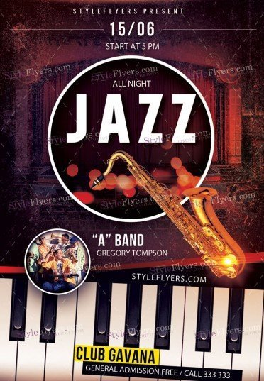Jazz PSD Premium Flyer Template
