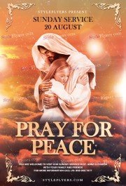 Pray For Peace PSD Flyer Template