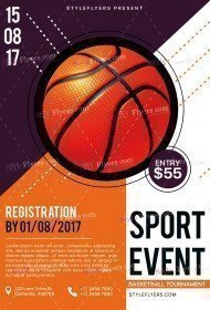 Sport PSD Flyer Template