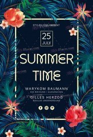 Summer Time PSD Flyer Template
