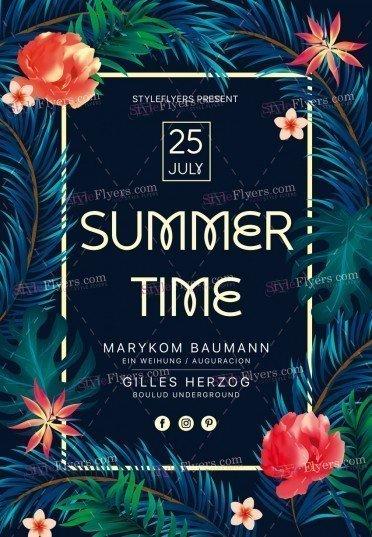 Summer Time PSD Flyer Template