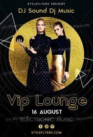 VIP Lounge PSD Flyer Template