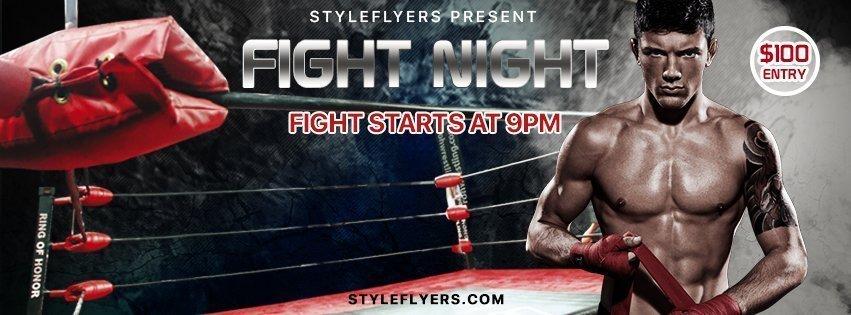 facebook_prev_fight night_psd_flyer